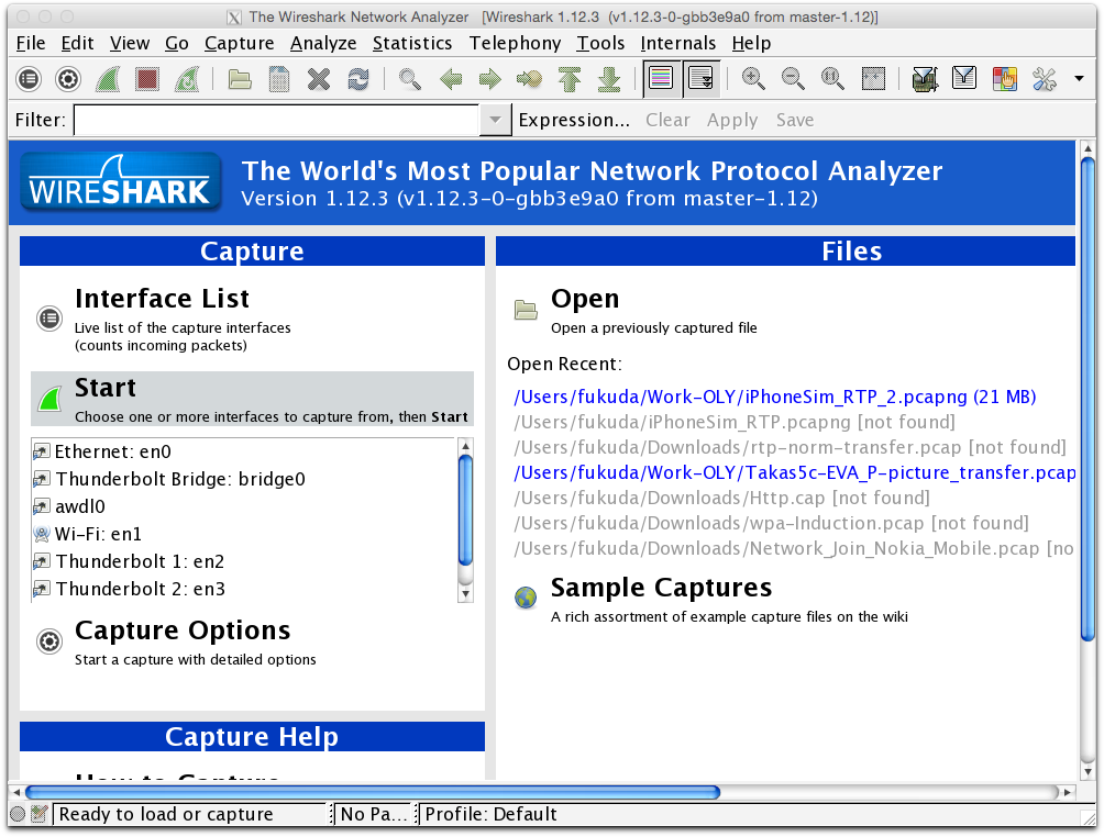 Wireshark on Yosemite