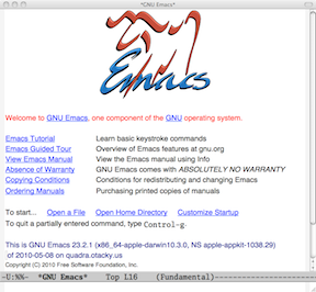Emacs-23.2 Startup