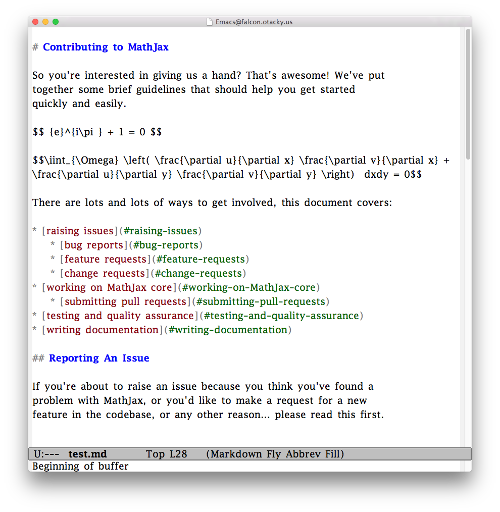 Markdown Documents on EmacsMac